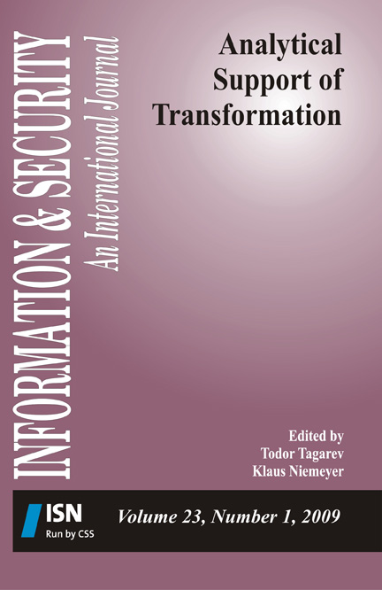 I&S volume 23 no 1 on Analytical Support of Transformation