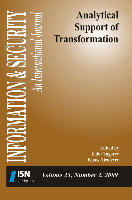 I&S volume 23 no 2 on Analytical Support of Transformation